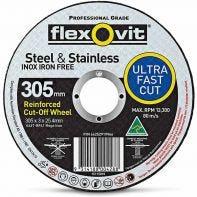 Flexovit Steel & Stainless Cut-Off Wheel 305 x 3 x 25.4mm