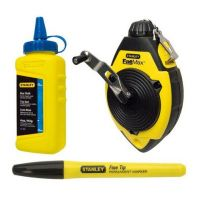 Stanley FatMax Chalk Line Reel with Blue Chalk & Marker 30m/100ft