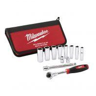 "Milwaukee 48229001 3/8"" Drive Metric Socket Sets 12pk"