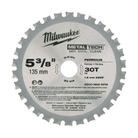 "Milwaukee Metal Saw Blade 5 3/8"" 30T (Ferrous Metals)"