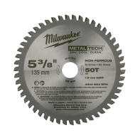 "Milwaukee Metal Saw Blade 5 3/8"" 50T (Non-Ferrous Metals)"