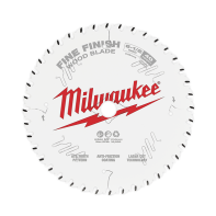 "Milwaukee Circular Saw Blade 6-1/2"" 165mm 40T FINE FINISH"