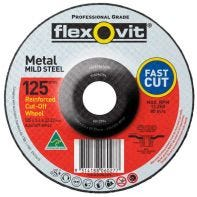 Flexovit Wheel Cut-Off Metal Depressed Centre A24/30T 125mm x 3.4mm x 22.23mm 66252841679
