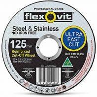 Flexovit Steel & Stainless Grinding Wheel 125 x 6.8 x 22.2mm