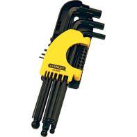 Hex Wrench (Key) Set Ball End L Series Stanley (9 Pcs) Metric 1.5 - 10mm