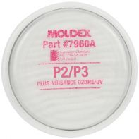 Filter Disk P2/P3 Particulate with Nuisance Organic Vapor Moldex Suits Ser 7000 1/2 Mask / Ser 9000 Full Mask