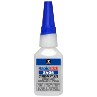 Rapidstick 8406 Cyanoacrylate Adhesive (Wicking Grade, Rubber & Metal Bonding) - 25ml Bottle