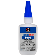 Rapidstick 8406 Cyanoacrylate Adhesive (Wicking Grade, Rubber & Metal Bonding) - 50g Bottle