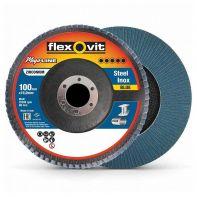 Flexovit Megaline Flap Disc 100mm x 16mm R828 Z80