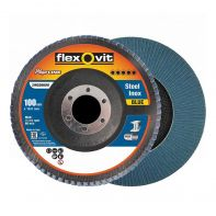 Flexovit Megaline Flap Disc 100mm x 16mm R828 Z120