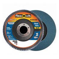 Flexovit Megaline Flap Disc 115mm x 22mm R828 Z120
