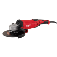 "Milwaukee Angle Grinder 230mm (9"") 2200W with Rat-Tail Deadman switch"