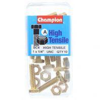 Champion 1/4x1.UNC Bolts Gr5 ZP (Pack 10)