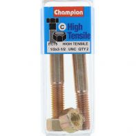 Champion 1/2x3.1/2 UNC Bolts & Nuts Gr5 ZP (Pack 2)