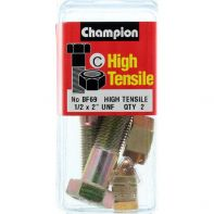 Champion 1/2x2 UNF Bolts & Nuts Gr5 ZP (Pack 2)