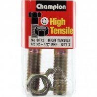 Champion 1/2x2.1/2 UNF Bolts & Nuts Gr5 ZP (Pack 2)