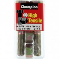 Champion 1/2x3 UNF Bolts & Nuts Gr5 ZP (Pack 2)