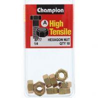 Champion .1/4 Hex Nut Blist/Box