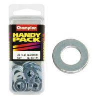 Champion Flat Steel Washers 1/4 M/S ZP (Pack 35)