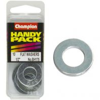 Champion Flat Steel Washers 1/2 M/S ZP (Pack 10)