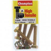 Champion .M7x35 Screw/Nut Bl/Box