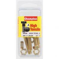 Champion .M8x50 Screw/Nut Bli/Box