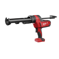 Milwaukee M18 Caulking and Adhesive 600ml Aluminium Gun Barrel with 2.0AH Red Lithium Battery, Charger & Contractors Bag