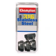 """Champion CSP89 - 5/16"""" UNC Self-Locking Nuts 316/A4 Stainless Steel"""