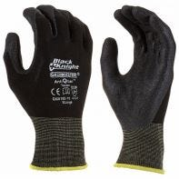Maxisafe Black Knight Nylon Nitrile Gloves Med (SIZE 08)