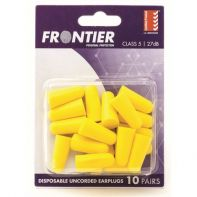 Beaver Frontier Foam Ear Plugs Uncorded Disposable (Poly Pack 10 Pairs)