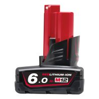 Milwaukee M12 Red Lithium 6.0AH Battery Pack M12B6