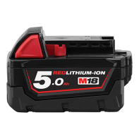 Milwaukee M18 Red Lithium 5.0AH Battery Pack M18B5