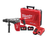 Milwaukee M18 Fuel SDS Max Rotary Hammer 40mm Kit (includes Case, 2 x 9.0AH Li-Ion Batteries & Charger)