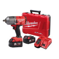 "Milwaukee  M18 FUEL HighTorque Wrench 1/2"" Pin Detent, with Red Lithium Batteries, Charger & Hard Case 5.0Ah RED LITHIUM Kit"
