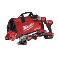 Milwaukee M18 Fuel 3pc Kit (Contains M18FPD, M18FID, M18CAG with 2 x 5.0Ah Batteries, Charger & Bag)