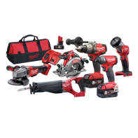 Milwaukee M18 Fuel Gen 2 6pc Kit (Contains Fuel Drill Driver, Impact Driver, Angle Grinder, Circ Saw, Recip Saw, Work Light with 2 x 5.0Ah Batteries, Charger & Carry Case)