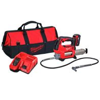 Milwaukee M18 Grease Gun Kit (1 x 2.0ah Battery, Charger & Bag)