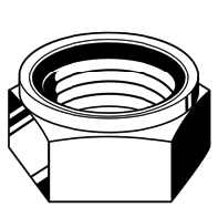 Brt Hex Lock Nut