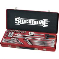 "Sidchrome 31 Piece 1/2"" Drive Socket & Spanner Set - Metric"