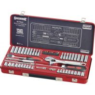 "Sidchrome 60 Piece 1/4"" Drive Socket Set - Metric"