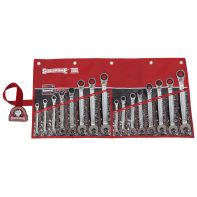 Sidchrome 467 Geared Spanner Set Metric 16pc Wallet