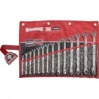 Sidchrome 440 Ring & Open End Spanner Set Metric 14pc Wallet