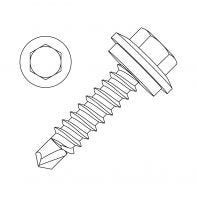 Self Drilling Screw (SDS) Series 500 CL 4 Hex Head with Seal