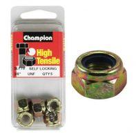 Champion 3/8 UNF Nyloc Nut ZP (Pack 5)