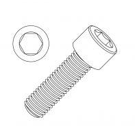 M10 Socket Head Cap Screw CL 12.9 Zinc Plated