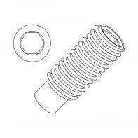 "1/2"" UNC Socket Set Screw Cup Point (Grub) Alloy Steel Plain"