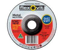 Flexovit Wheel Cut-Off Metal Depressed Centre A24/30T 125mm x 3.4mm x 22.23mm 66252841679