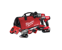 Milwaukee M18 Fuel 3pc Kit (Contains M18FPD, M18FIWF, M18CAG with 2 x 5.0Ah Batteries, Charger & Bag)